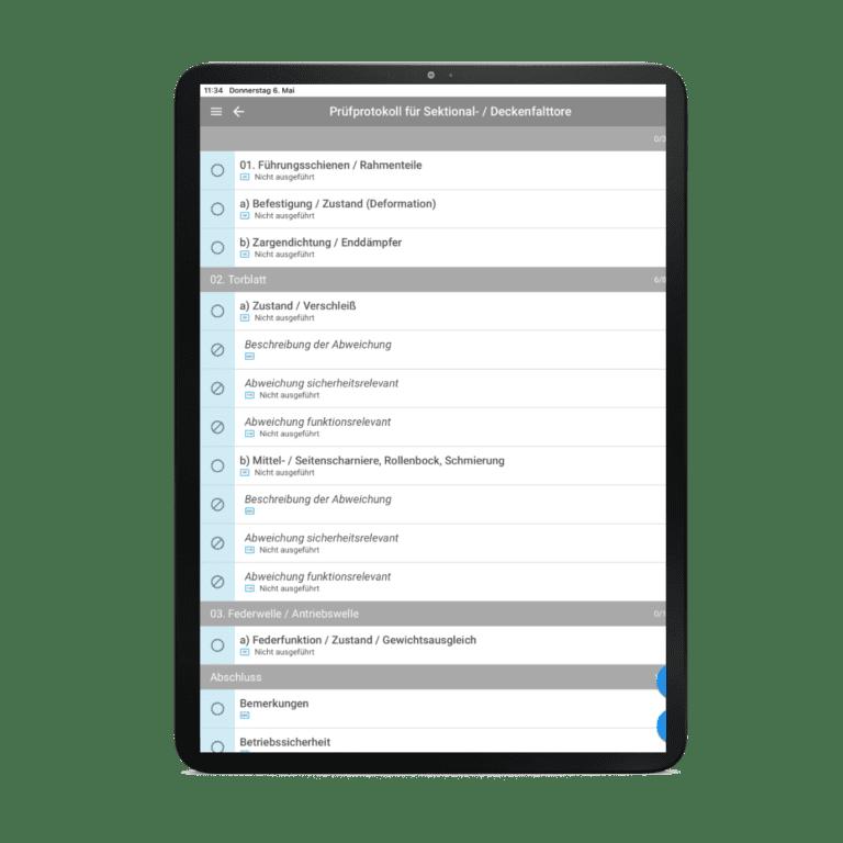 Kundenspezifische Checklisten und Formulare
